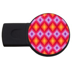 Texture Surface Orange Pink Usb Flash Drive Round (4 Gb) by Celenk