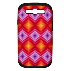 Texture Surface Orange Pink Samsung Galaxy S Iii Hardshell Case (pc+silicone) by Celenk