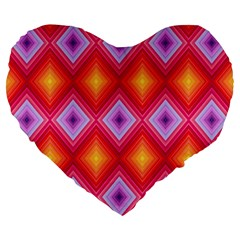 Texture Surface Orange Pink Large 19  Premium Flano Heart Shape Cushions by Celenk