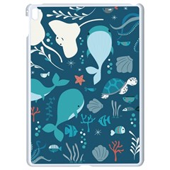 Cool Sea Life Pattern Apple Ipad Pro 9 7   White Seamless Case by allthingseveryday