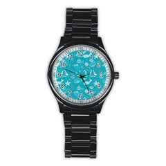 Fun Everyday Sea Life Stainless Steel Round Watch by allthingseveryday