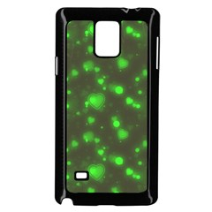 Neon Green Bubble Hearts Samsung Galaxy Note 4 Case (black) by PodArtist