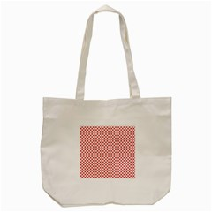 Sexy Red And White Polka Dot Tote Bag (cream) by PodArtist