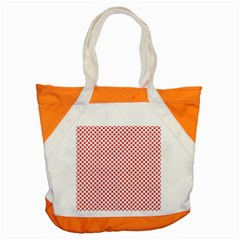 Sexy Red And White Polka Dot Accent Tote Bag by PodArtist