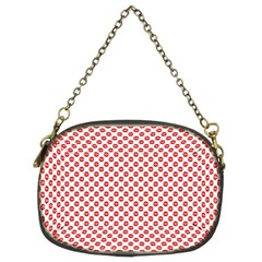Sexy Red And White Polka Dot Chain Purses (two Sides)  by PodArtist