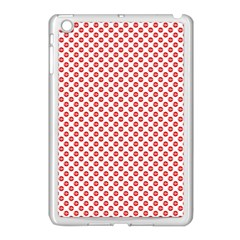 Sexy Red And White Polka Dot Apple Ipad Mini Case (white) by PodArtist