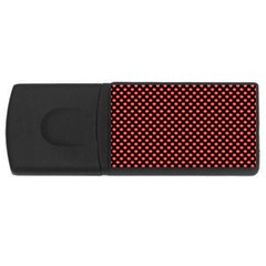 Sexy Red And Black Polka Dot Rectangular Usb Flash Drive by PodArtist