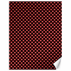 Sexy Red And Black Polka Dot Canvas 12  X 16   by PodArtist