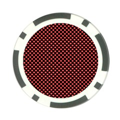 Sexy Red And Black Polka Dot Poker Chip Card Guard by PodArtist