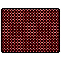 Sexy Red And Black Polka Dot Fleece Blanket (large)  by PodArtist