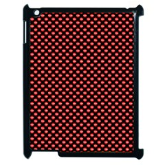 Sexy Red And Black Polka Dot Apple Ipad 2 Case (black) by PodArtist