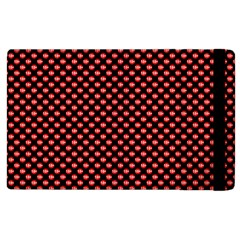 Sexy Red And Black Polka Dot Apple Ipad 2 Flip Case by PodArtist