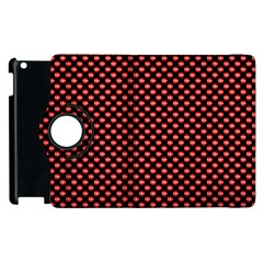 Sexy Red And Black Polka Dot Apple Ipad 3/4 Flip 360 Case by PodArtist