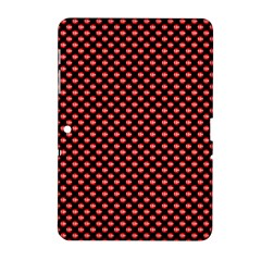 Sexy Red And Black Polka Dot Samsung Galaxy Tab 2 (10 1 ) P5100 Hardshell Case  by PodArtist