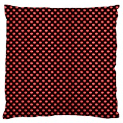 Sexy Red And Black Polka Dot Standard Flano Cushion Case (one Side) by PodArtist
