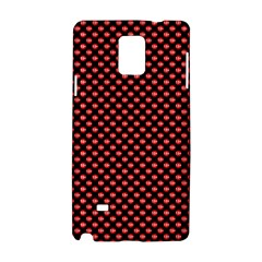 Sexy Red And Black Polka Dot Samsung Galaxy Note 4 Hardshell Case by PodArtist