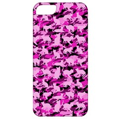 Hot Pink Catmouflage Camouflage Apple Iphone 5 Classic Hardshell Case by PodArtist