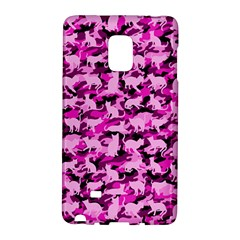 Hot Pink Catmouflage Camouflage Galaxy Note Edge by PodArtist