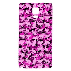 Hot Pink Catmouflage Camouflage Galaxy Note 4 Back Case by PodArtist