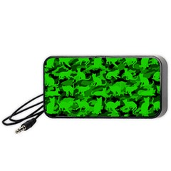 Bright Neon Green Catmouflage Portable Speaker by PodArtist