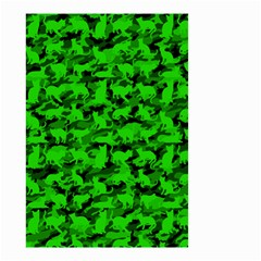 Bright Neon Green Catmouflage Small Garden Flag (two Sides) by PodArtist