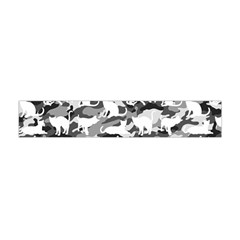 Black And White Catmouflage Camouflage Flano Scarf (mini) by PodArtist