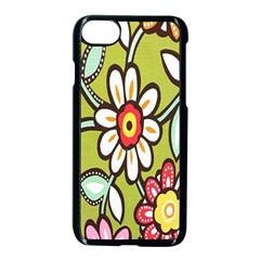 Flowers Fabrics Floral Design Apple Iphone 8 Seamless Case (black) by Celenk
