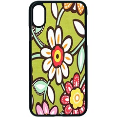 Flowers Fabrics Floral Design Apple Iphone X Seamless Case (black)
