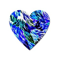 Abstract Background Blue White Heart Magnet