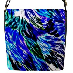 Abstract Background Blue White Flap Messenger Bag (s)