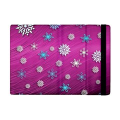 Snowflakes 3d Random Overlay Apple Ipad Mini Flip Case