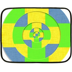Fabric 3d Geometric Circles Lime Double Sided Fleece Blanket (mini)  by Celenk