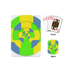 Fabric 3d Geometric Circles Lime Playing Cards (mini)