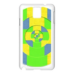 Fabric 3d Geometric Circles Lime Samsung Galaxy Note 3 N9005 Case (white) by Celenk