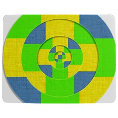 Fabric 3d Geometric Circles Lime Jigsaw Puzzle Photo Stand (rectangular) by Celenk