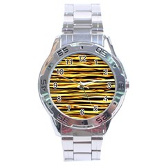 Texture Wood Wood Texture Wooden Stainless Steel Analogue Watch