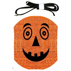Fabric Halloween Pumpkin Funny Shoulder Sling Bags by Celenk