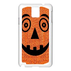 Fabric Halloween Pumpkin Funny Samsung Galaxy Note 3 N9005 Case (white) by Celenk