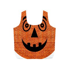 Fabric Halloween Pumpkin Funny Full Print Recycle Bags (s)