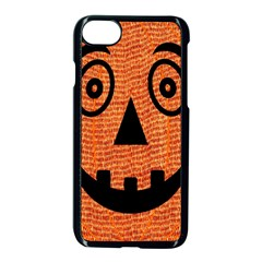 Fabric Halloween Pumpkin Funny Apple Iphone 7 Seamless Case (black) by Celenk