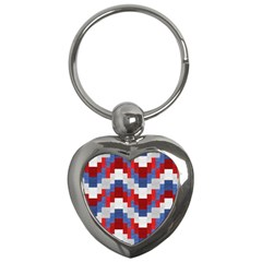 Texture Textile Surface Fabric Key Chains (heart)  by Celenk