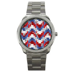 Texture Textile Surface Fabric Sport Metal Watch