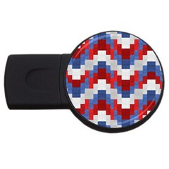 Texture Textile Surface Fabric Usb Flash Drive Round (4 Gb) by Celenk