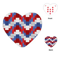 Texture Textile Surface Fabric Playing Cards (heart)