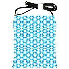 Fabric Geometric Aqua Crescents Shoulder Sling Bags