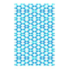 Fabric Geometric Aqua Crescents Shower Curtain 48  X 72  (small)  by Celenk
