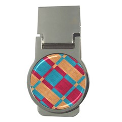 Fabric Textile Cloth Material Money Clips (round)
