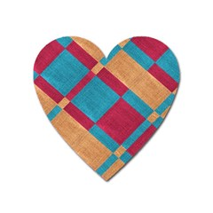 Fabric Textile Cloth Material Heart Magnet