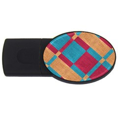 Fabric Textile Cloth Material Usb Flash Drive Oval (4 Gb) by Celenk