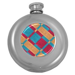 Fabric Textile Cloth Material Round Hip Flask (5 Oz) by Celenk